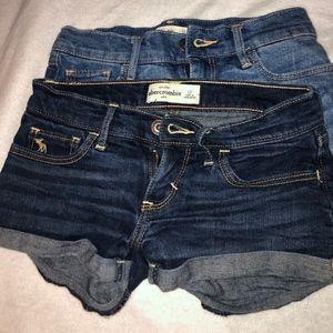 Abercrombie Kids Denim Shorts x2